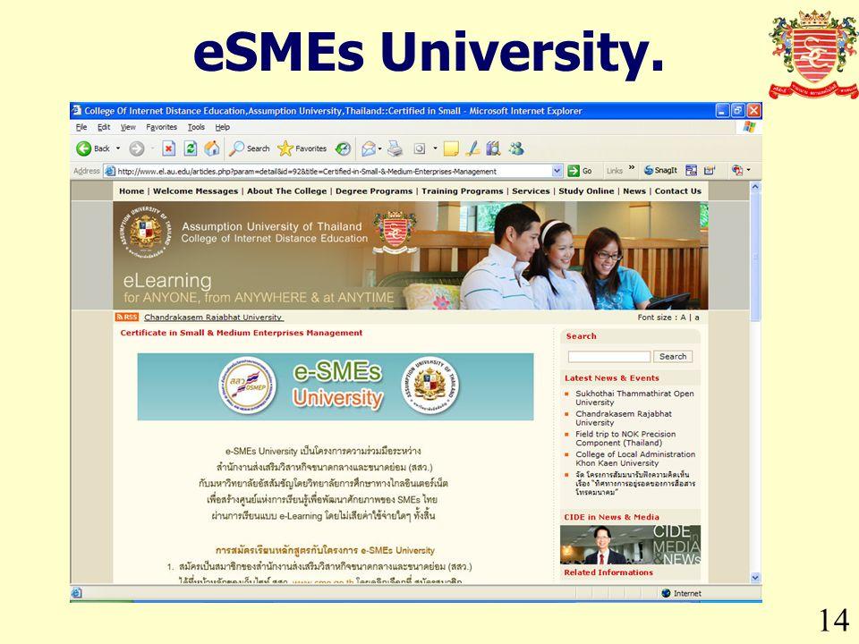 14 eSMEs University.