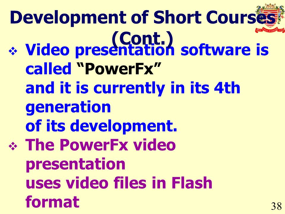 Video presentation software is called PowerFx and it is currently in its 4th generation of its development. The PowerFx video presentation uses video