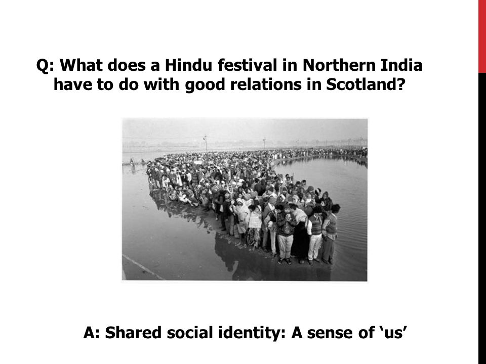 Q: What does a Hindu festival in Northern India have to do with good relations in Scotland.