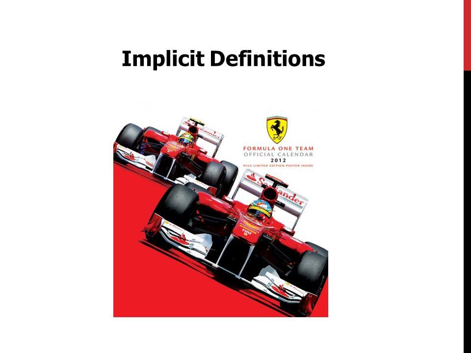 Implicit Definitions