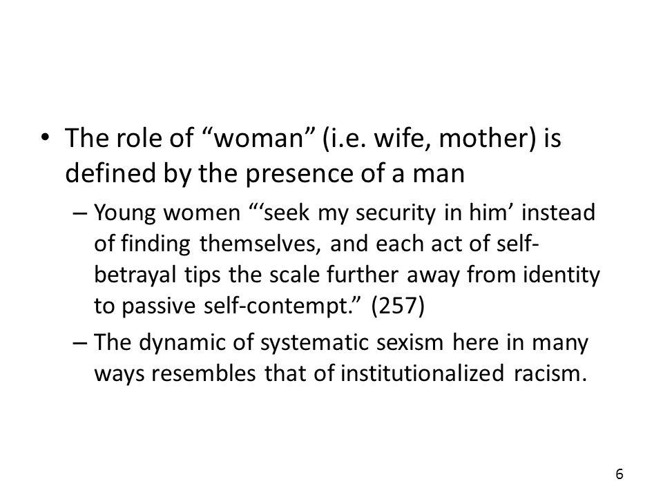 The role of woman (i.e.