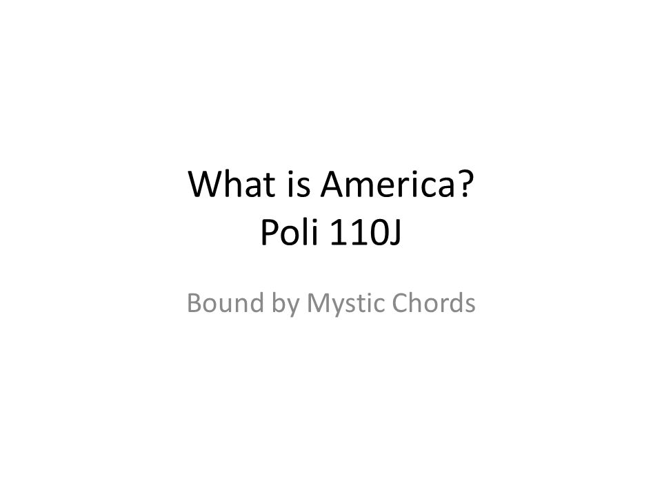 What is America Poli 110J Bound by Mystic Chords