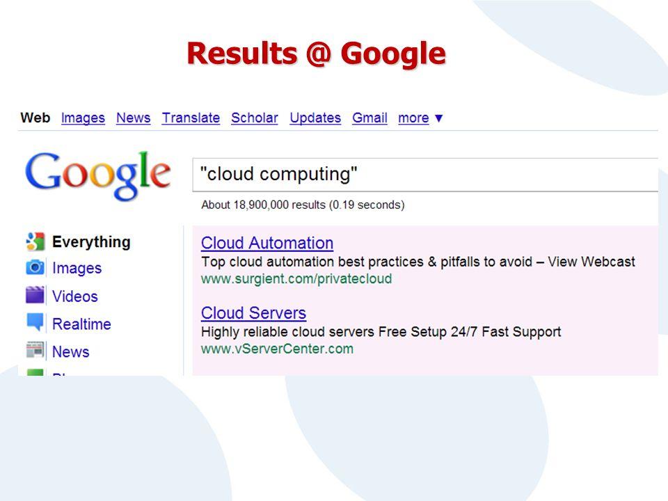 Results @ Google
