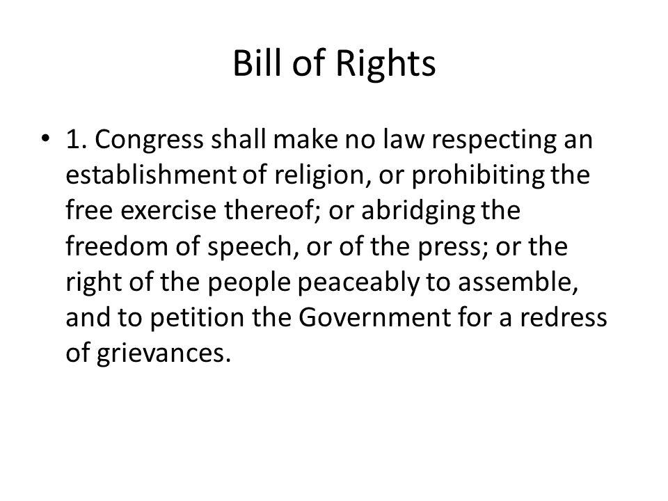 Bill of Rights 1.
