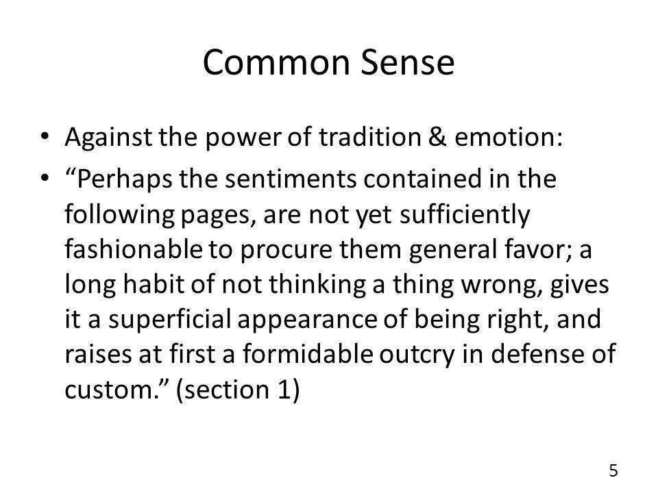 Common Sense Religious toleration (sect.