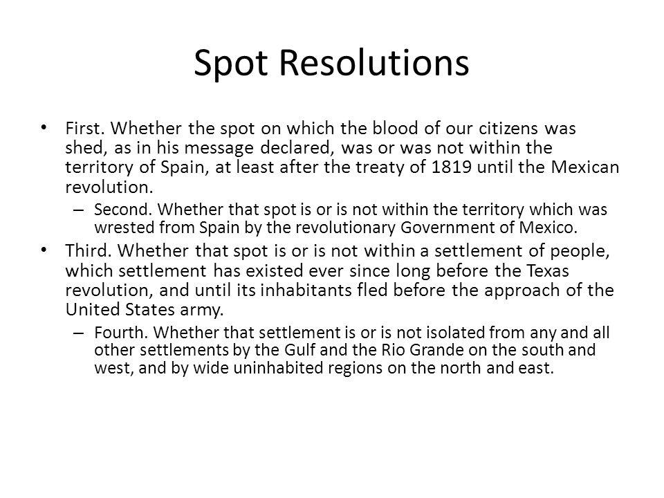 Spot Resolutions First.