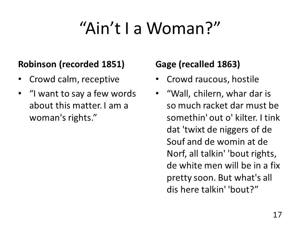 Aint I a Woman.