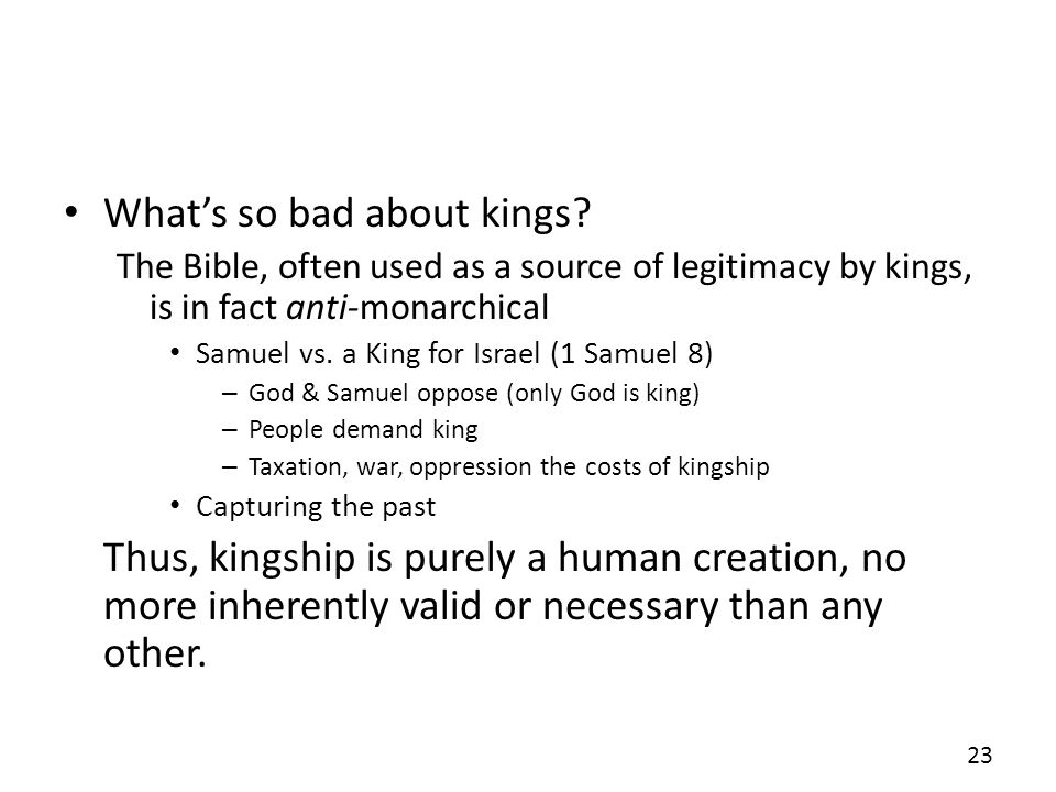 Whats so bad about kings.