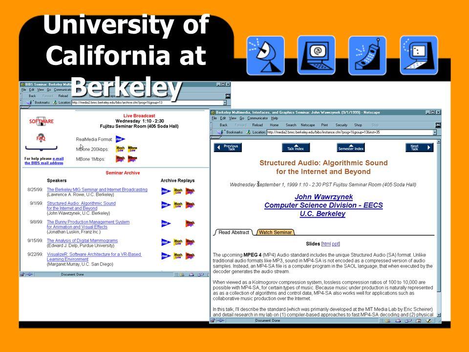 Berkeley MIG Seminar … University of California at Berkeley