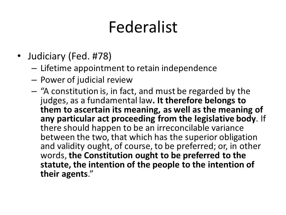 Federalist Judiciary (Fed.