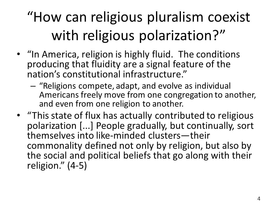 How can religious pluralism coexist with religious polarization.