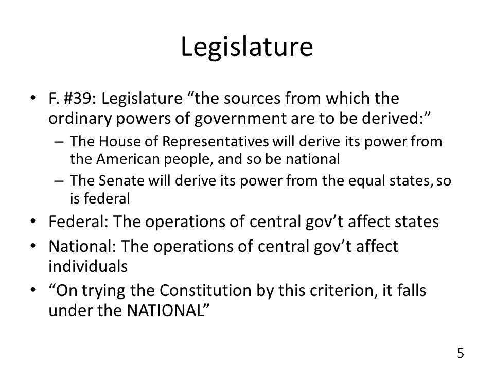 Federalist The Executive (Fed.