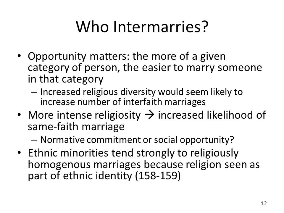 Who Intermarries.