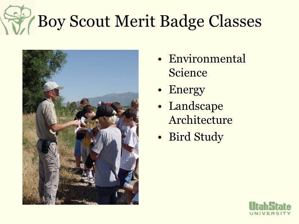 Boy Scout Merit Badge Classes Environmental Science Energy Landscape Architecture Bird Study