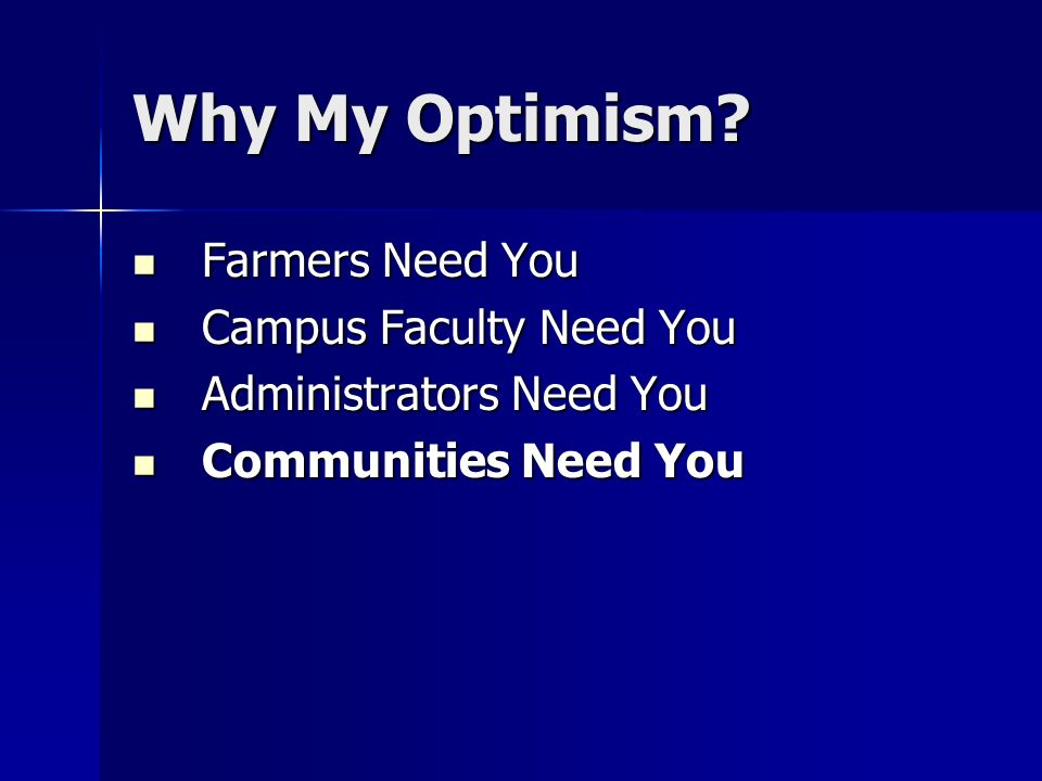 Why My Optimism.