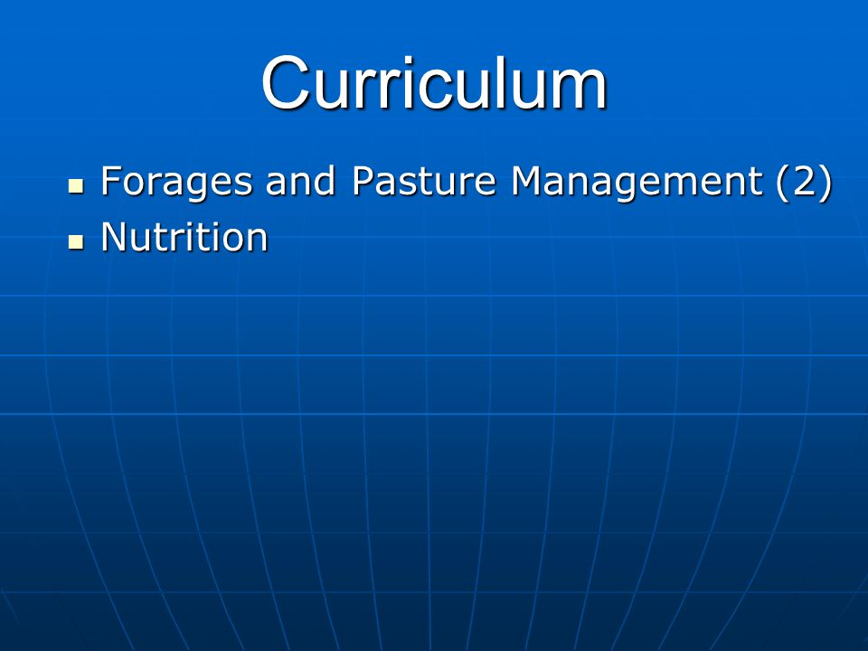 Curriculum Nutrition Nutrition