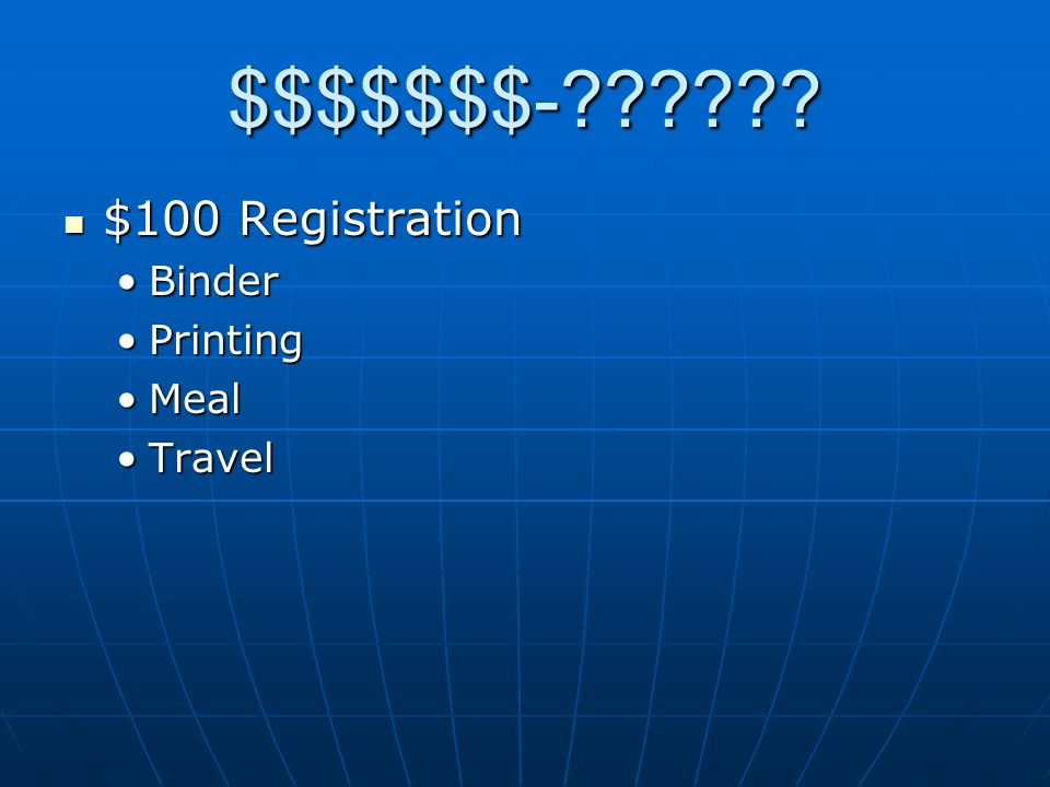 $$$$$$$- BinderBinder PrintingPrinting MealMeal TravelTravel