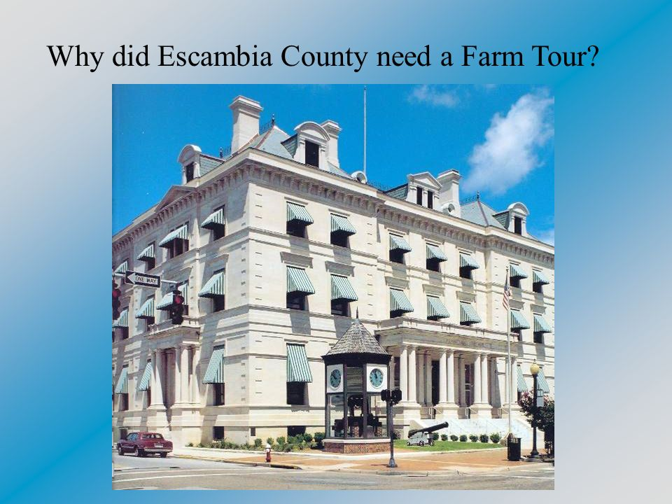 Why did Escambia County need a Farm Tour?