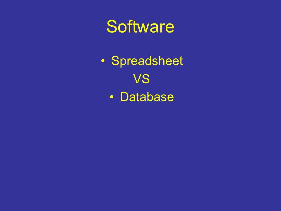 Software Spreadsheet VS Database