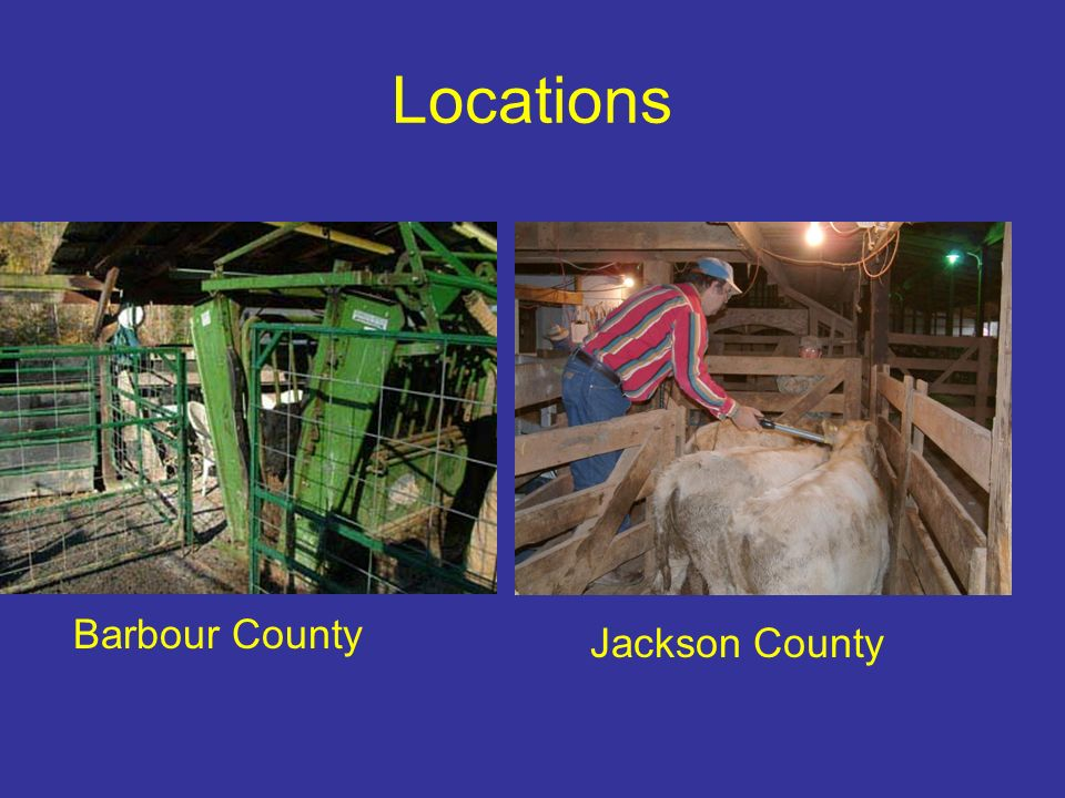 Locations Barbour County Jackson County