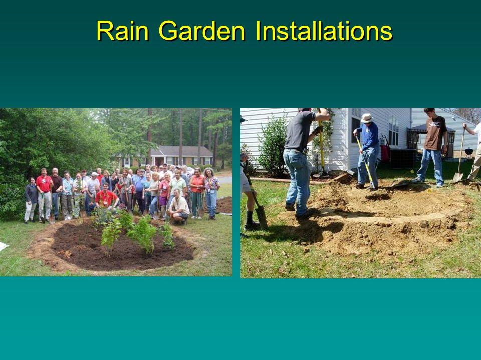 Rain Garden Installations