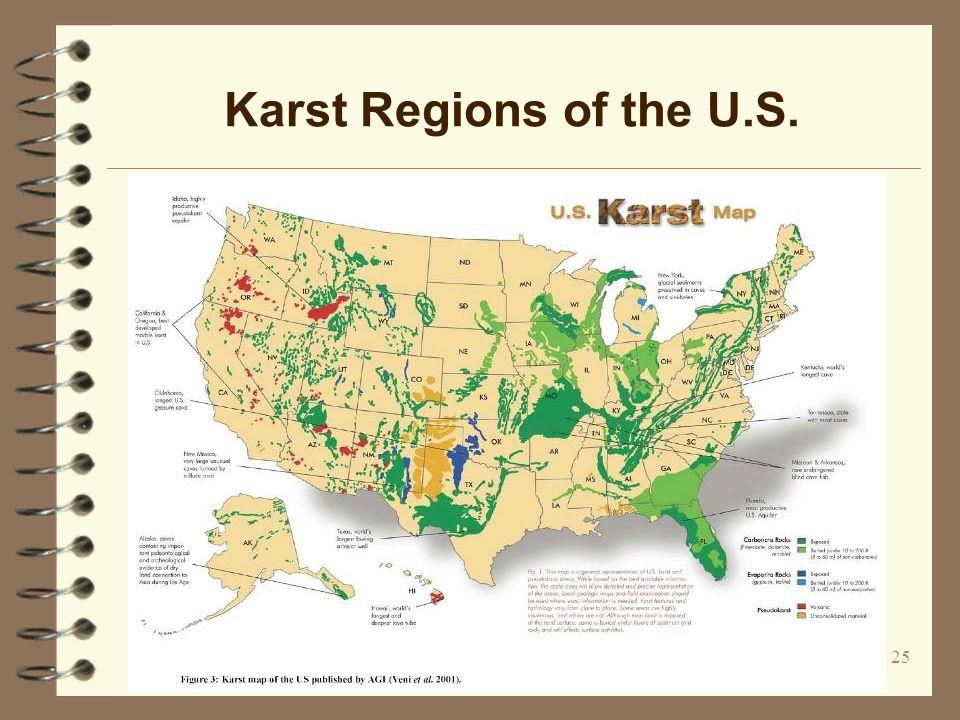 25 Karst Regions of the U.S.