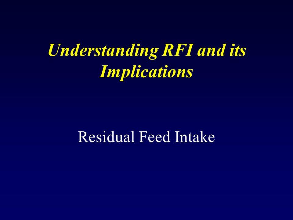 Understanding RFI and its Implications Residual Feed Intake