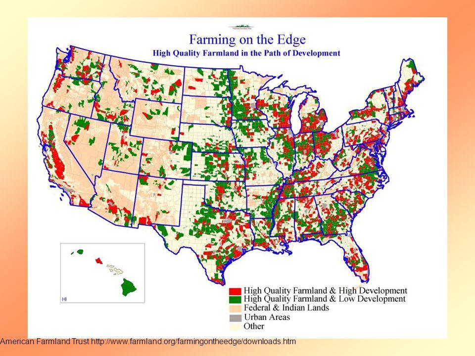 American Farmland Trust http://www.farmland.org/farmingontheedge/downloads.htm