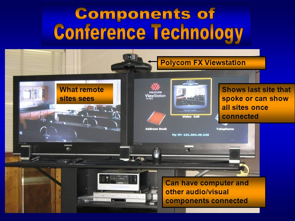 Understand not all programs can or should be delivered using video- conference technology Still need personal touch