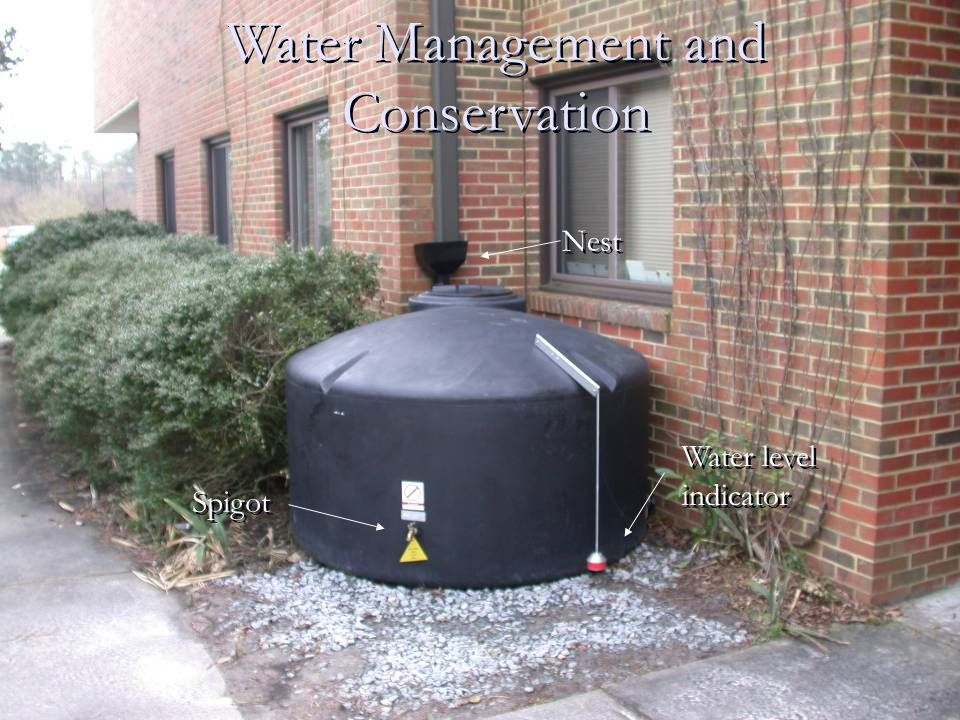 Water Management and Conservation Nest Water level indicator Water level indicator Spigot