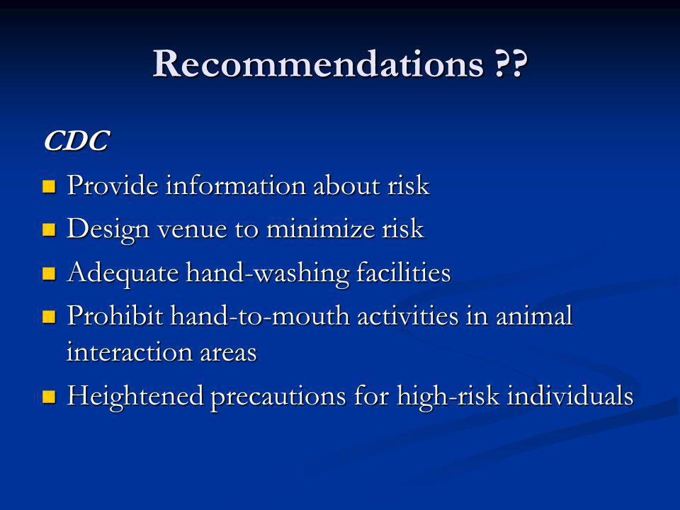 Recommendations .