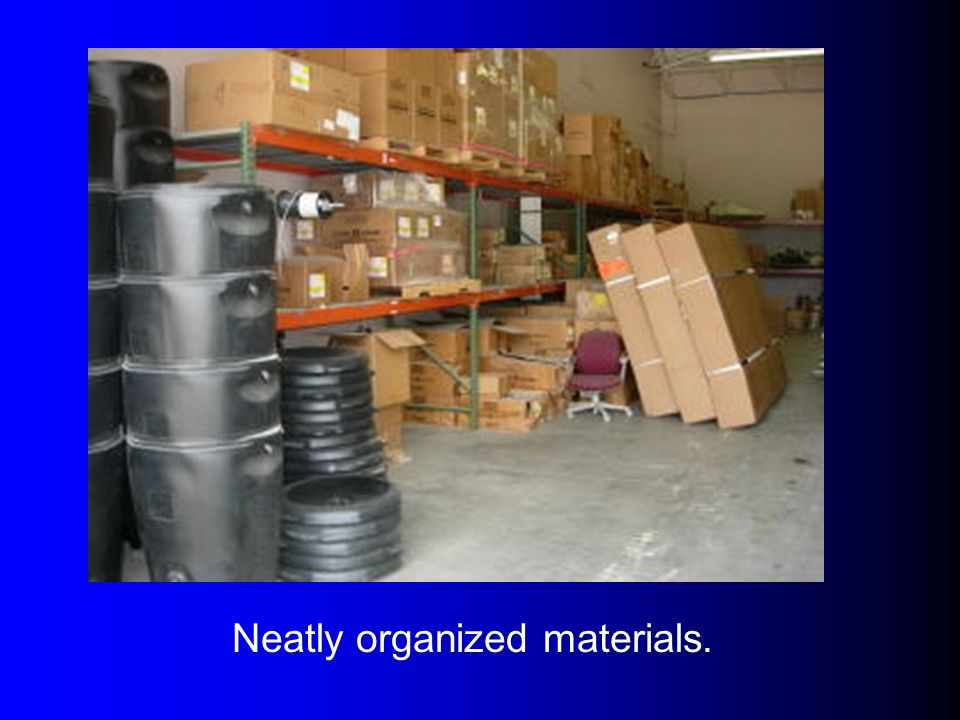 Neatly organized materials.
