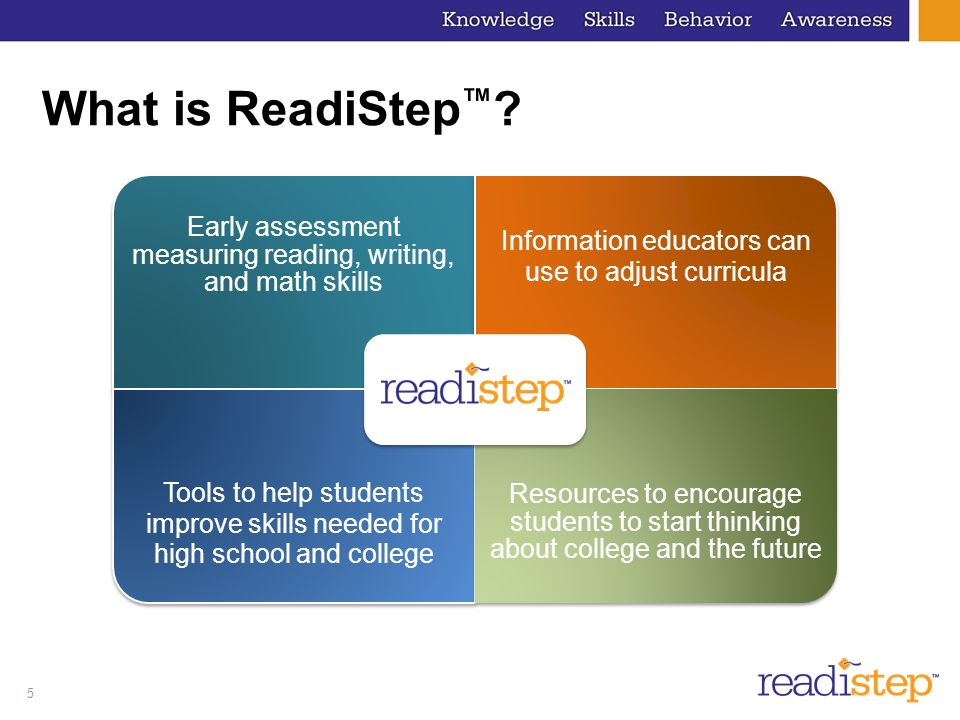 5 What is ReadiStep .