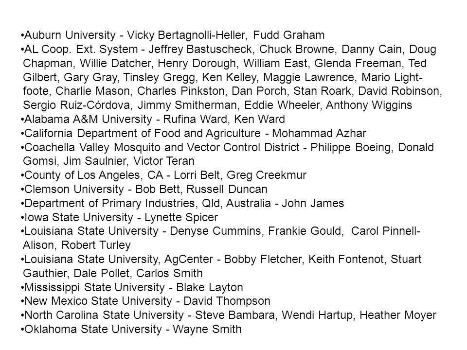 Auburn University - Vicky Bertagnolli-Heller, Fudd Graham AL Coop.