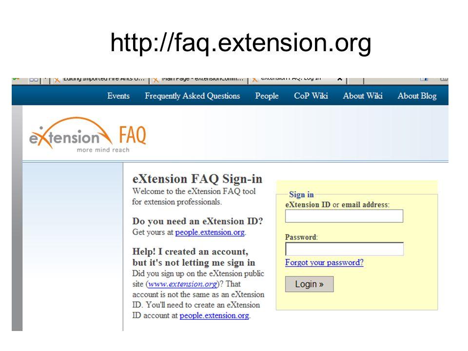 http://faq.extension.org