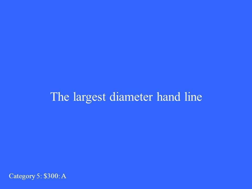 The largest diameter hand line Category 5: $300: A