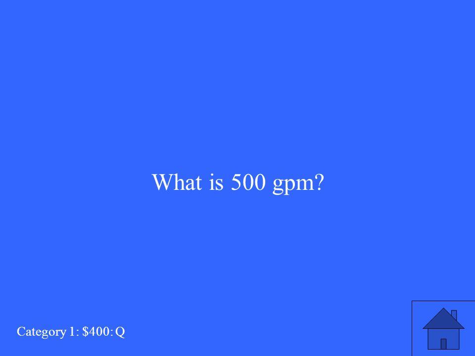 ? = 29.7 x d 2 x P Category 4: $500: A