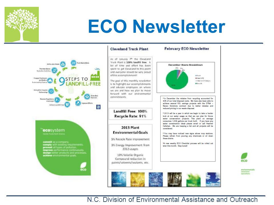 N.C. Division of Environmental Assistance and Outreach ECO Newsletter