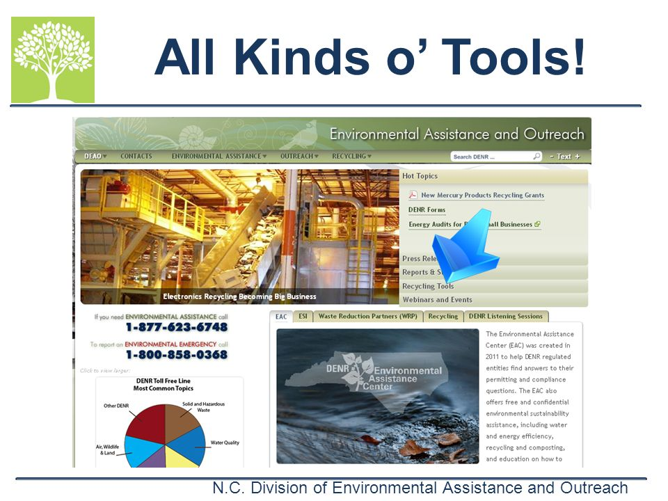 N.C. Division of Environmental Assistance and Outreach All Kinds o Tools!