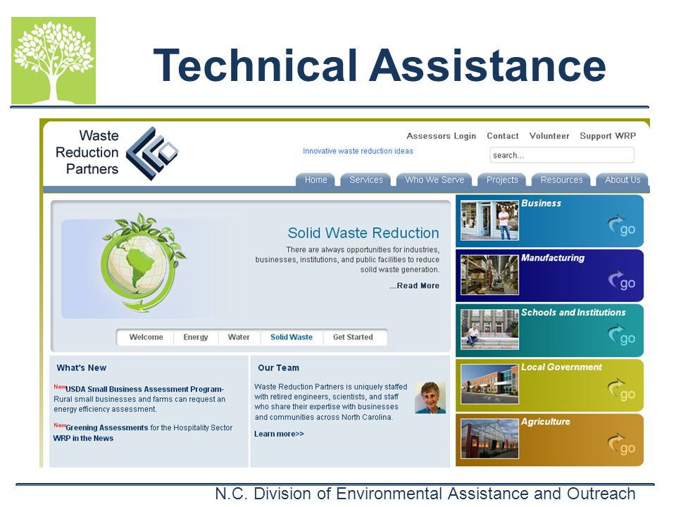 N.C. Division of Environmental Assistance and Outreach Technical Assistance
