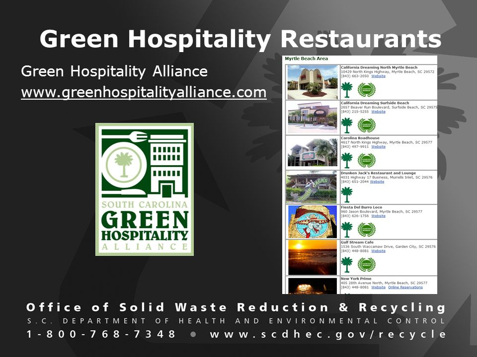Green Hospitality Restaurants Green Hospitality Alliance
