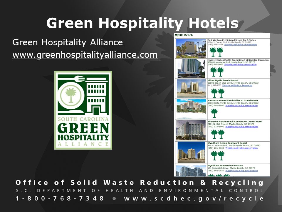 Green Hospitality Hotels Green Hospitality Alliance www.greenhospitalityalliance.com