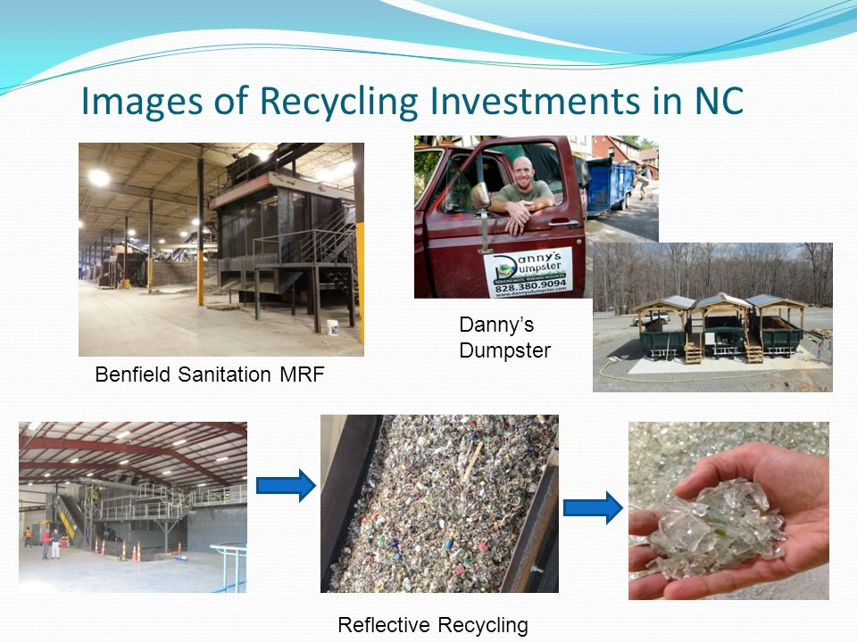 Reflective Recycling Dannys Dumpster Benfield Sanitation MRF Images of Recycling Investments in NC