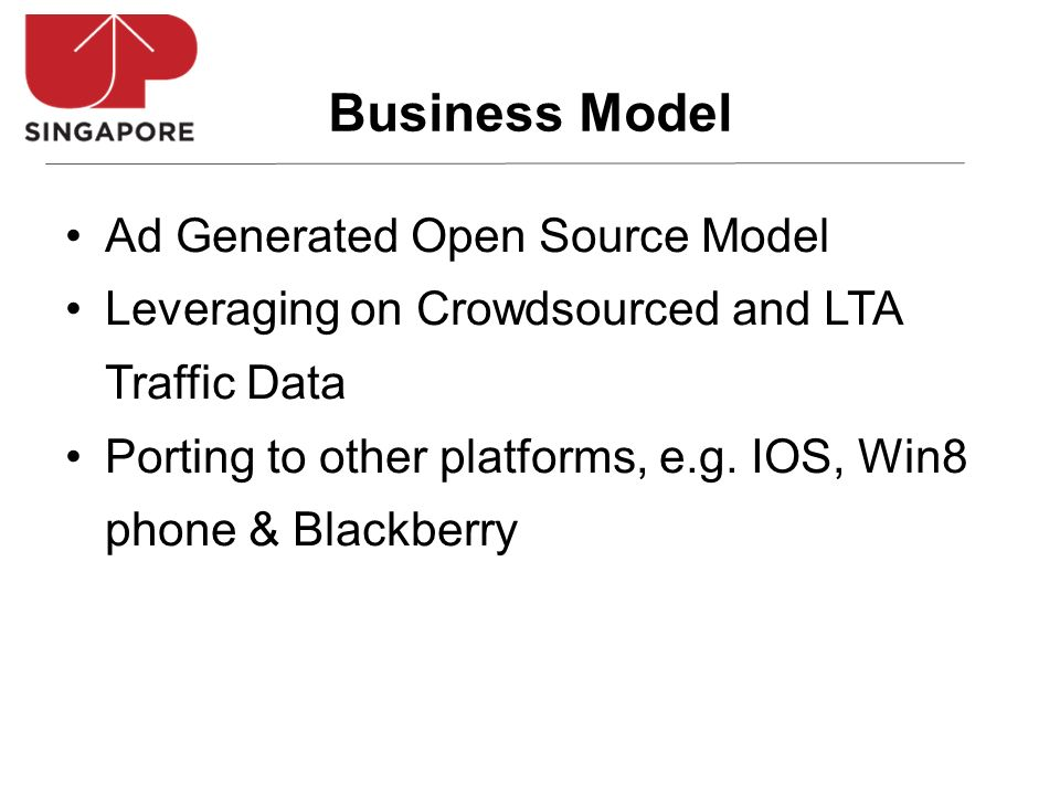 Ad Generated Open Source Model Leveraging on Crowdsourced and LTA Traffic Data Porting to other platforms, e.g.