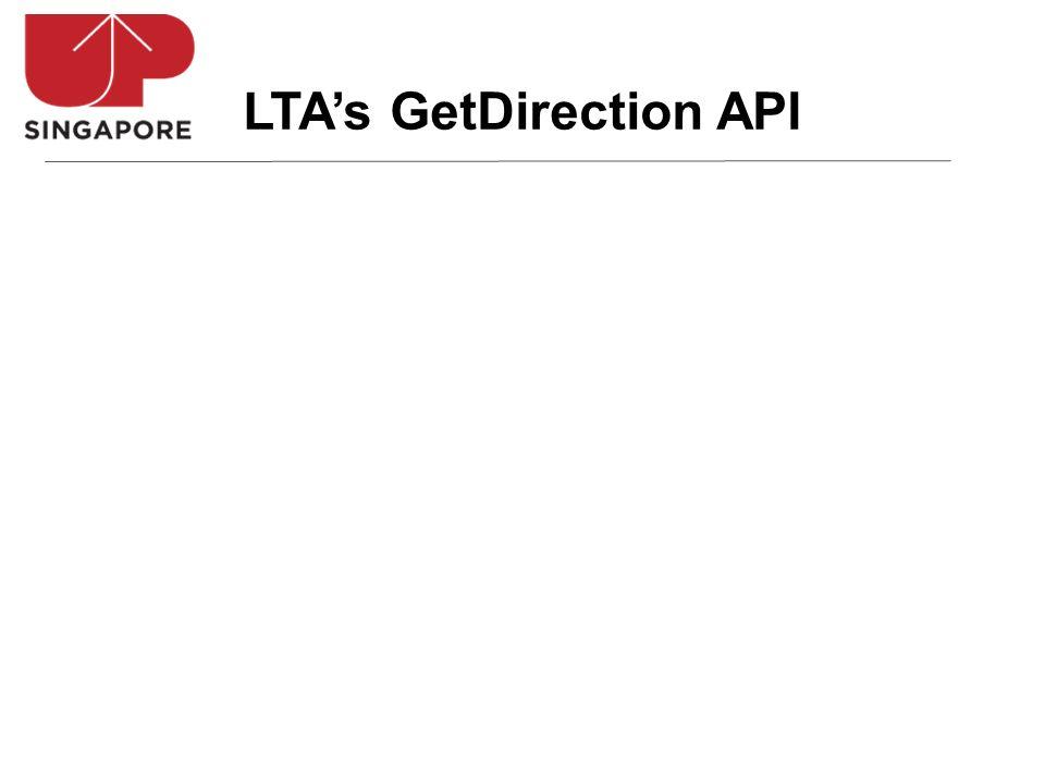 LTAs GetDirection API