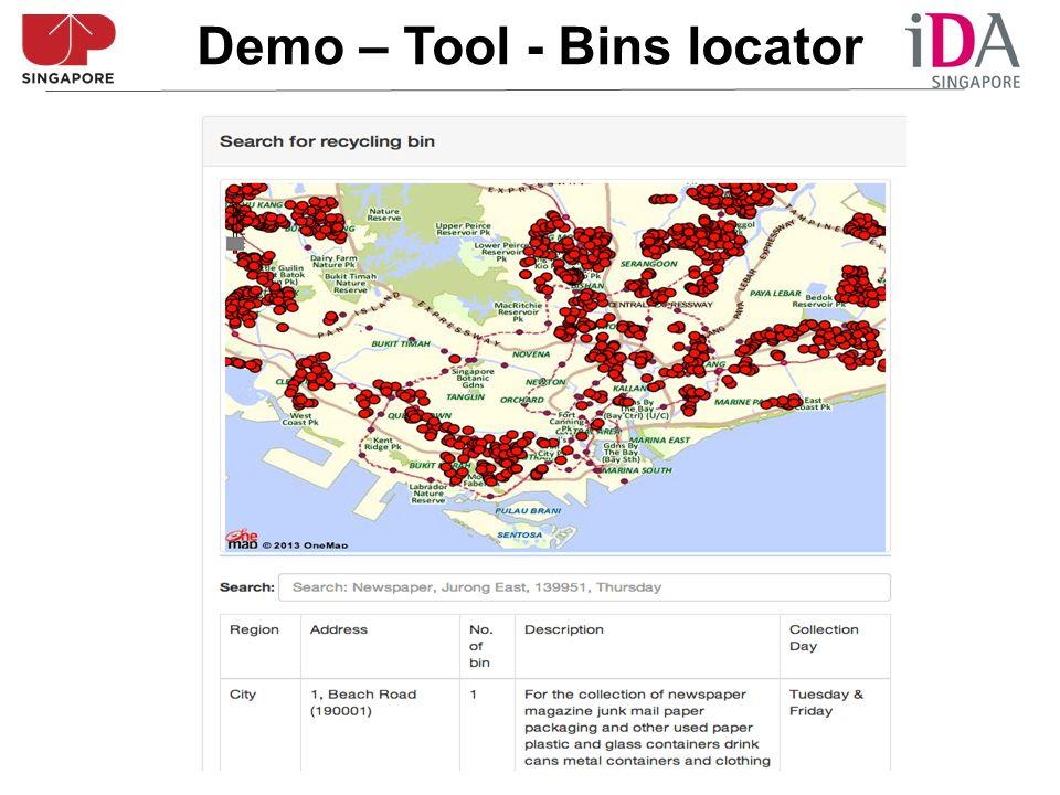 Demo – Tool - Bins locator