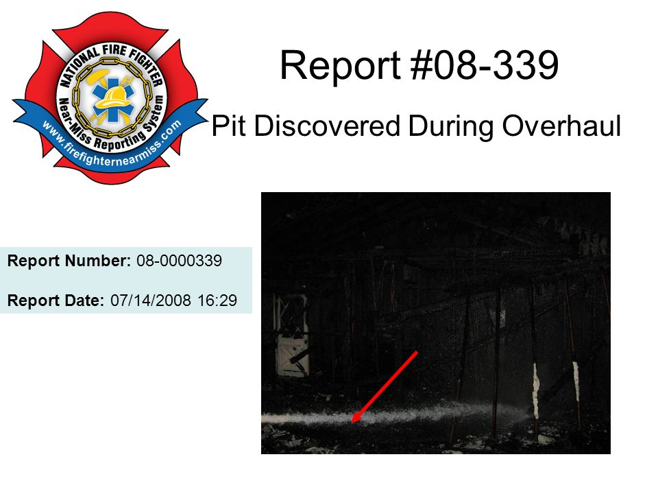 Report #08-339 Pit Discovered During Overhaul Report Number: 08-0000339 Report Date: 07/14/2008 16:29