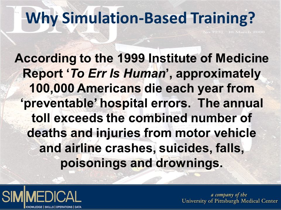 Why Simulation-Based Training.