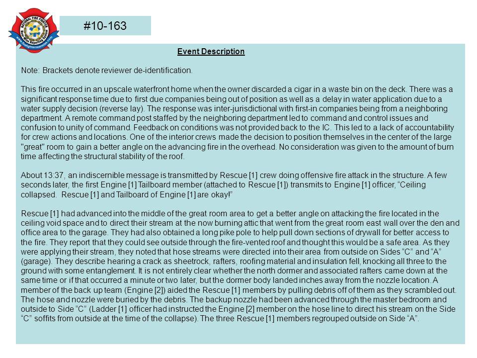 Event Description Note: Brackets denote reviewer de-identification.