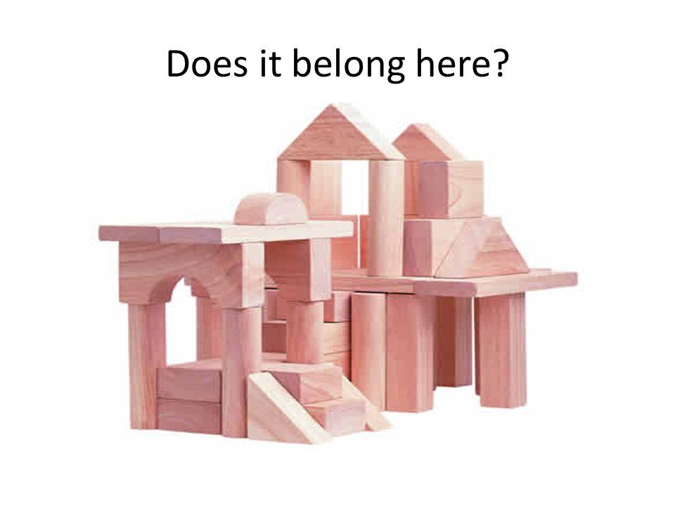Does it belong here